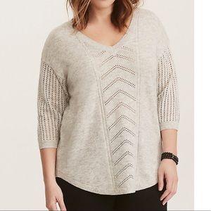 Pointelle Tunic Sweater
